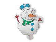 Balão com Boneco de Neve para Pintar Snowball