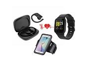Smartwatch, Auriculares Wireless e Braçadeira