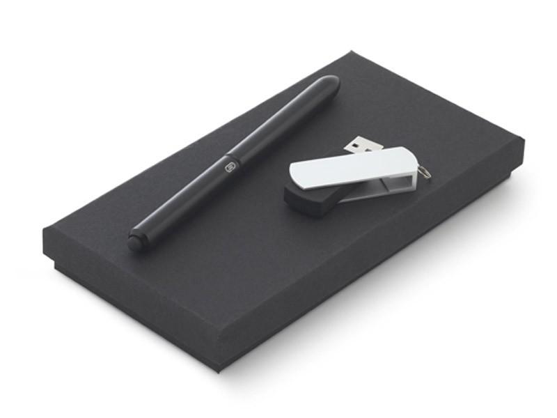 Conjunto de esferográfica e USB