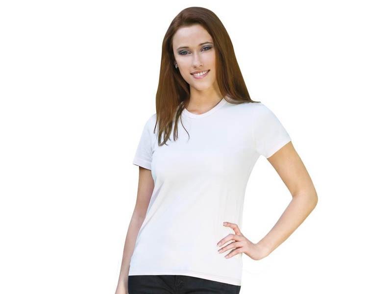 T-shirt branca de senhora