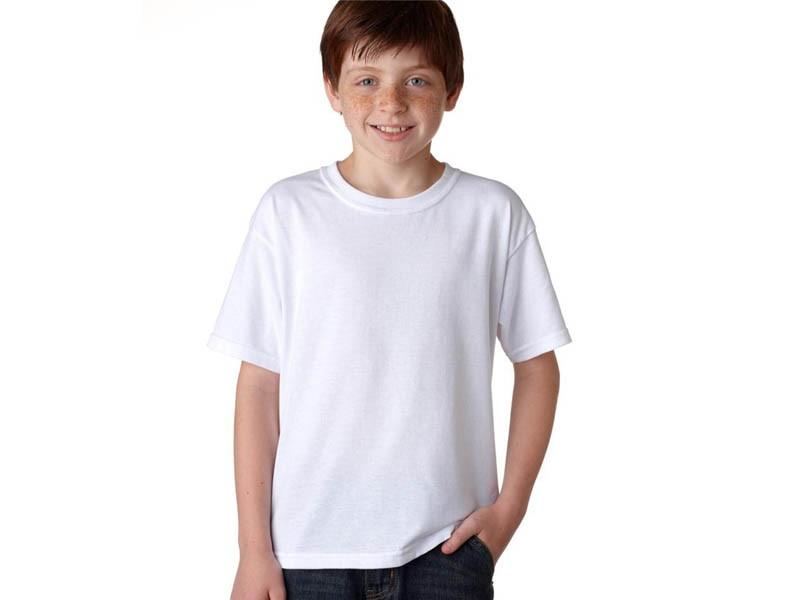 T-shirt Branca de Criança | 150 Gramas