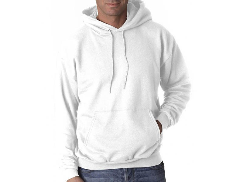 Sweatshirt branca com capuz