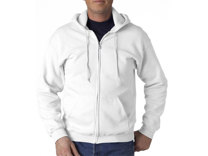 Sweatshirt Branca com Fecho
