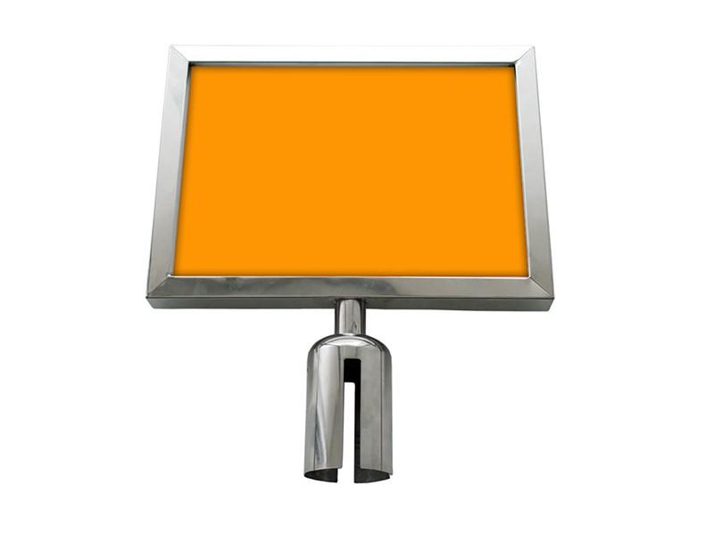 Porta Cartaz A4 Mirror SS Horizontal